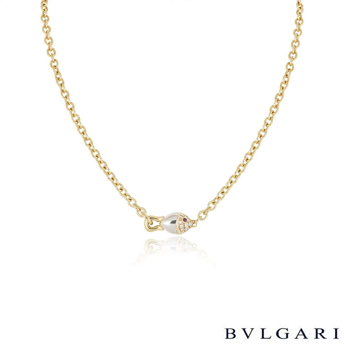 Bvlgari Yellow Gold Naturalia Diamond Necklace